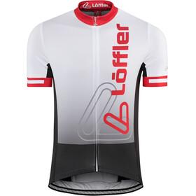 Löffler Racing Bike Trikot Full-Zip Herren weiß/rot